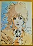 city hunter..... kaori   makimura by Drawings-forever