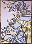 Warrior Of Light ...yoshitaka amano  art by Drawings-forever