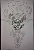 original drawings  -  skull by Drawings-forever