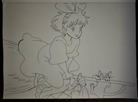 Majo no takkyubin by Drawings-forever
