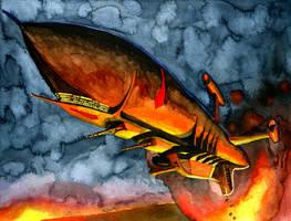 Burevestnik airship by A-Teivos