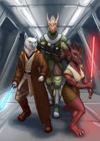 Two Jedis and a hired gun by A-Teivos