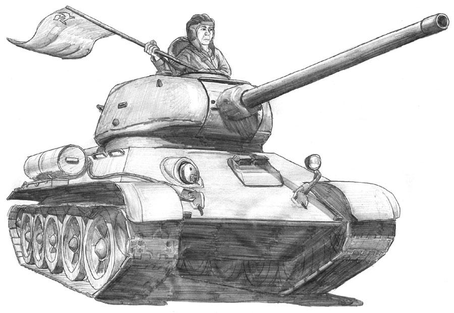T-34-85 by A-Teivos on DeviantArt