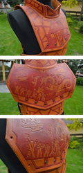 Fantasy leather armor details by A-Teivos