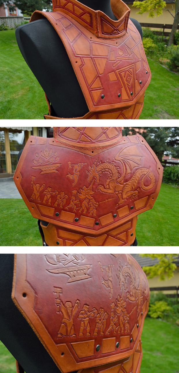 Fantasy leather armor details