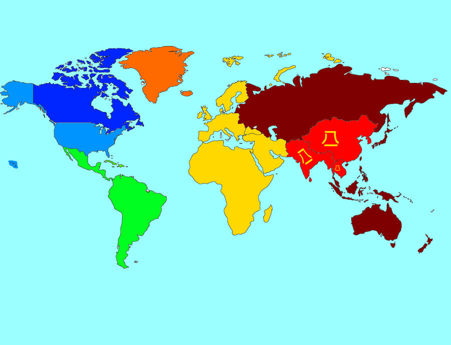 red dawn scenario, 2012 movie world map before WW3 by Ask ...