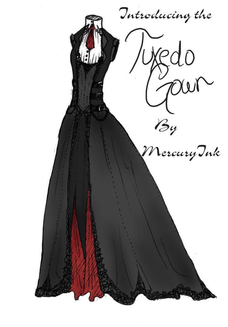 Tuxedo Gown by MercuryInk on DeviantArt