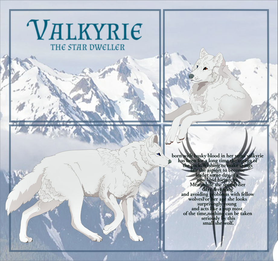 Valkyrie reference sheet by ItsSharkbait