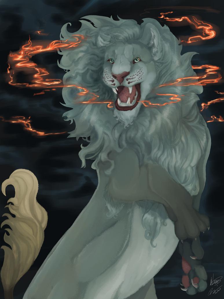 Pheonix lion , the ashen heart by ItsSharkbait