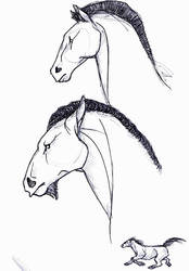 Sketch of horses