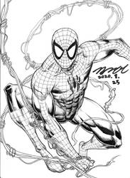 Spider-Man inked version by KyoungInKim