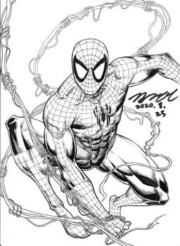 Spider-Man inked version