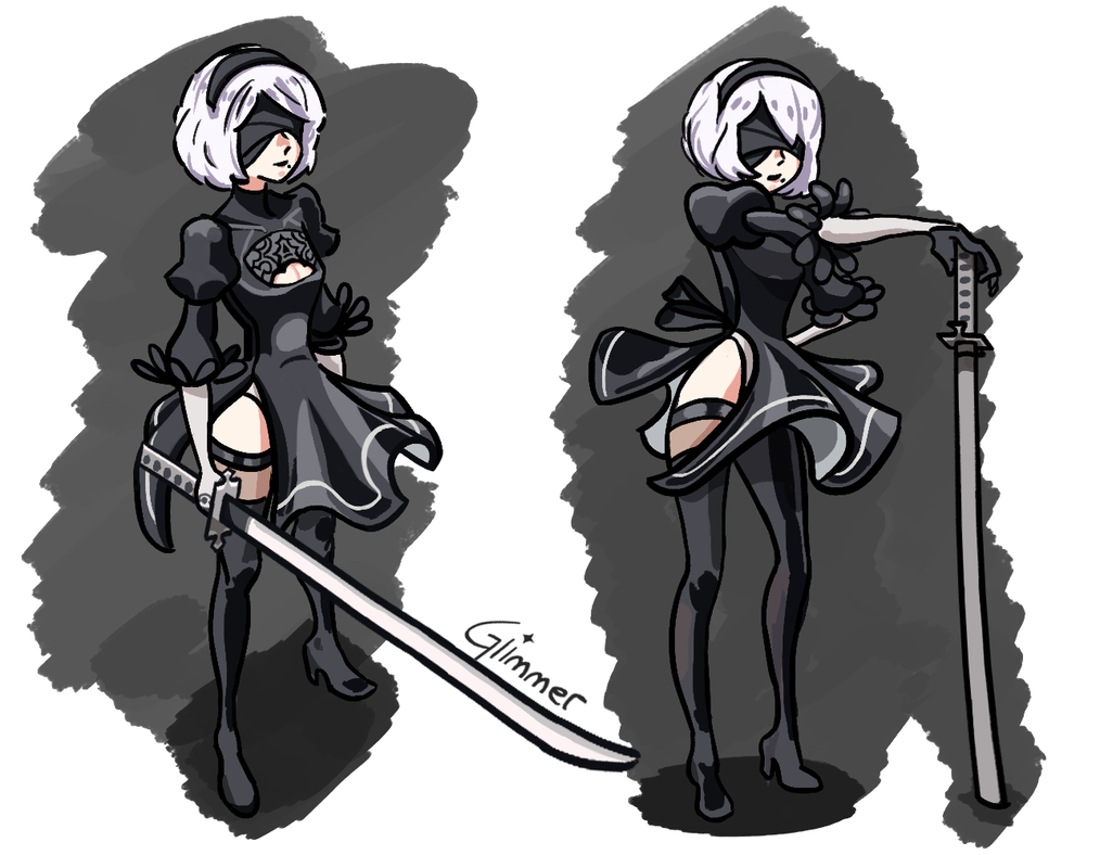 Nier Automata Fan Art Wallpaper 01 1920x1080: Nier: Automata By GlimmerCape On DeviantArt