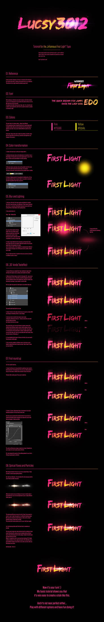 Tutorial: Name in InFamous First Light Style by Lucsy3012