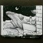 Inktober Day 12 - WHALE