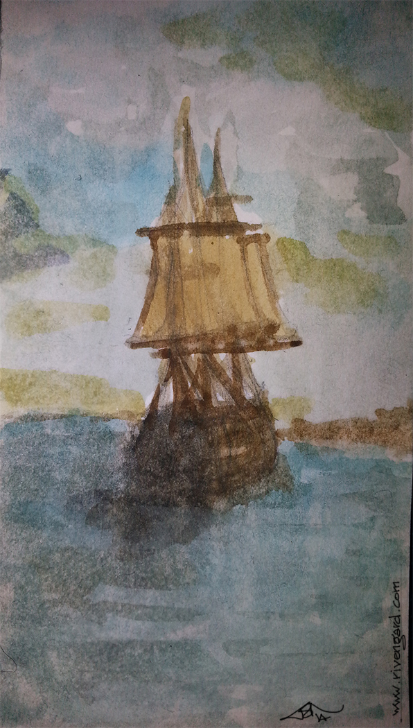 Wooden Ship by Jaxilon