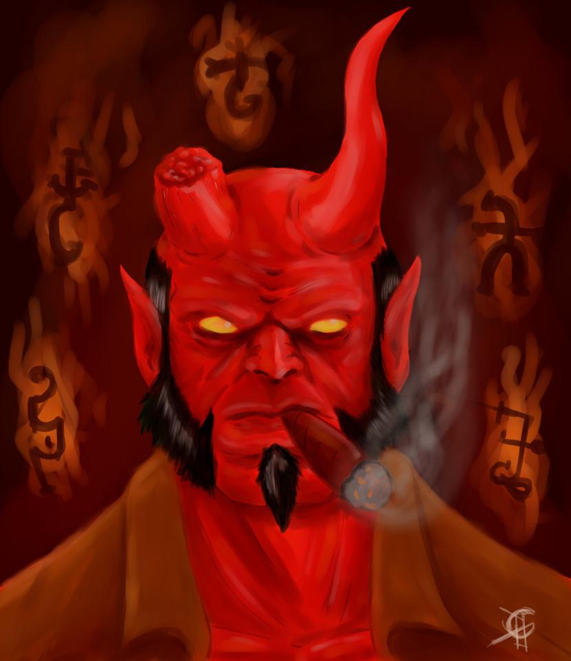 Hellboy by Fedegramajo
