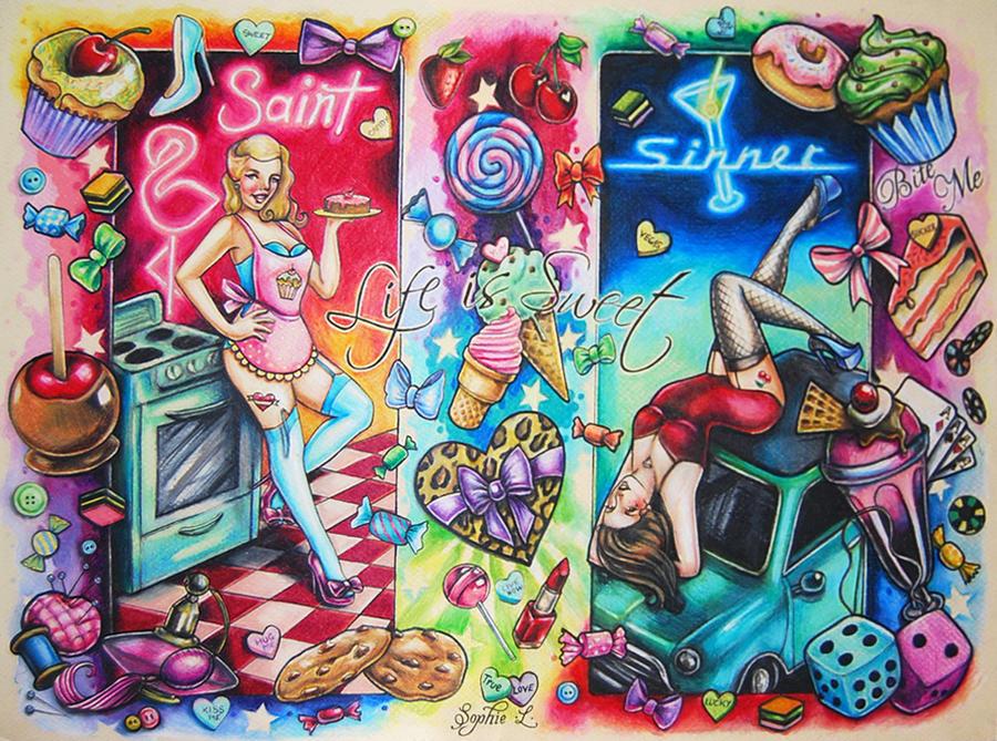 Candy Land Tattoo Flash by DollyEyes on DeviantArt
