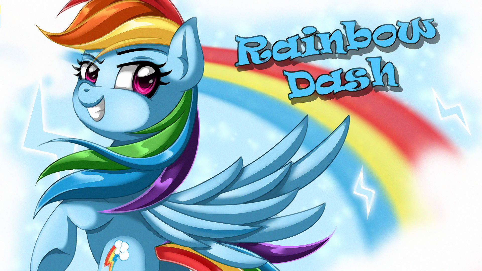 Wallpaper: Rainbow Dash by EStories on DeviantArt