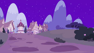 <b>Background. Ponyville Path [NIGHT]</b><br><i>EStories</i>