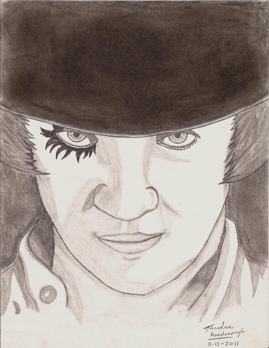 A Clockwork Orange Alex Drawing