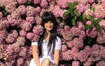 yui between the flowers