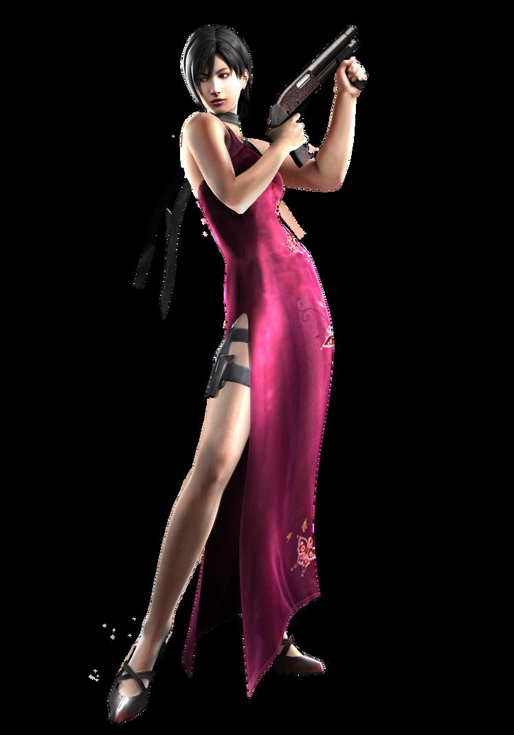 Ada Wong w/ Shotgun - Professional Render by Allan-Valentine