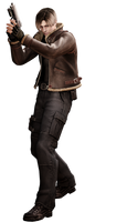 Leon #1 RE4 - Professional Render by Allan-Valentine