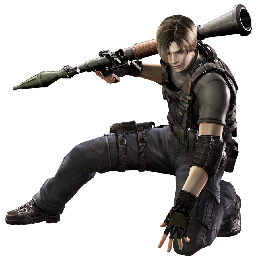 Leon w/ RPG RE4 - Professional Render by Allan-Valentine