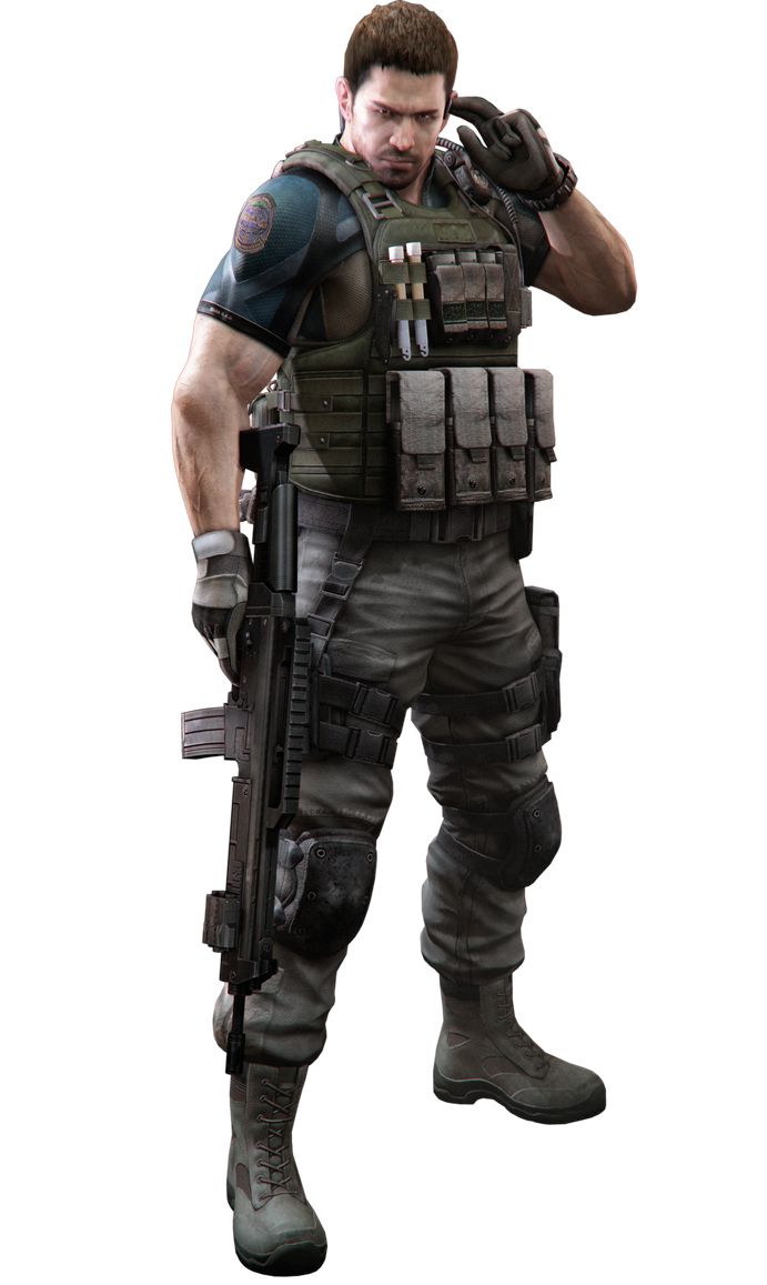 RE6 - Chris Costume 2 - Professional Render by Allan-Valentine
