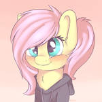 Fluttershy with hoodie