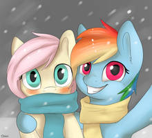 Flutters and Dashie by Dbleki