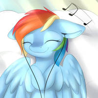 Chilling with music~ by Dbleki