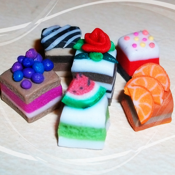 Polymer Clay Petit Cakes by DarkPartOfCarrot