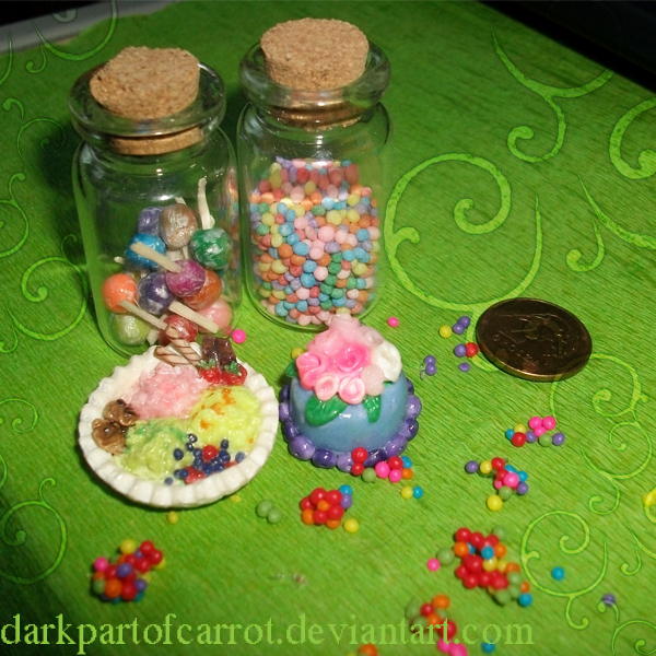 polymer clay - lots of sweets by DarkPartOfCarrot