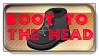 Boot To The Head Stamp by kreedantillesordo
