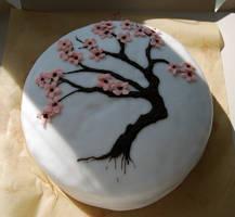 Sakura cake by hairyflower