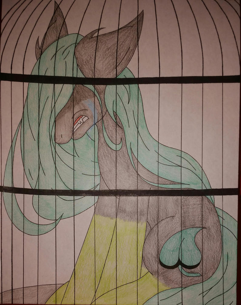 Caged by family (vent art) by shadowkunsgirlfriend