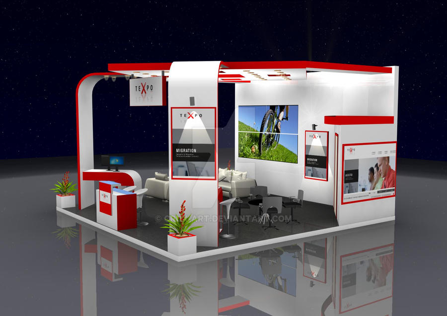 Exhibition Stand Drawing : Exhibition stand designs by crux art on deviantart