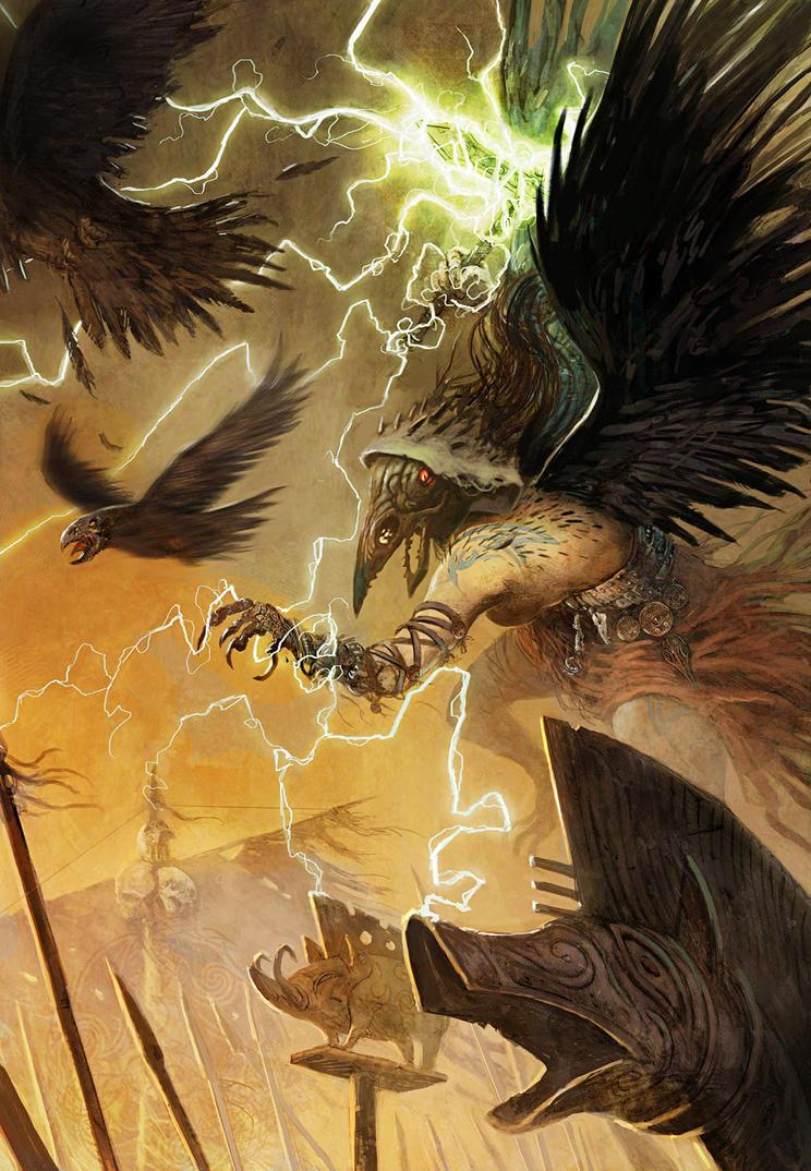 Nemain Battle witch by JohnMcCambridge