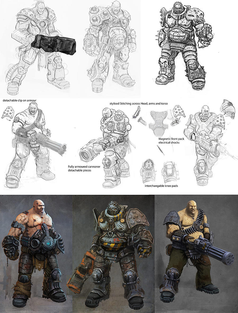 Character Design Process by JohnMcCambridge
