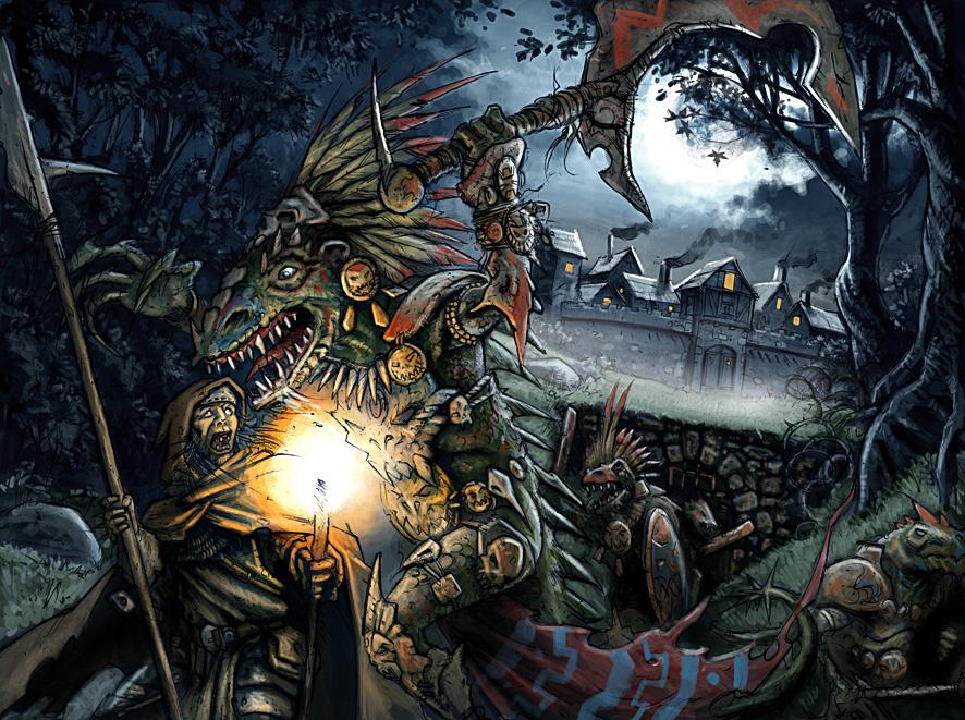 Lizard attack by JohnMcCambridge