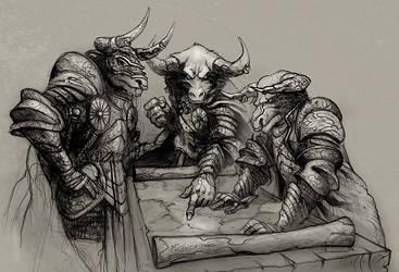 Minotaur generals by JohnMcCambridge