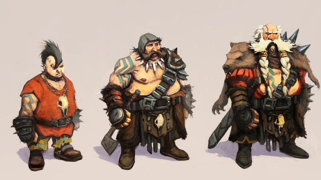 Runescape  punky Dwarves by JohnMcCambridge