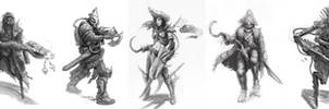Space pirate ideation sketches by JohnMcCambridge