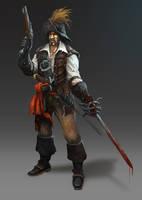 17th century pirate mercenary. by JohnMcCambridge