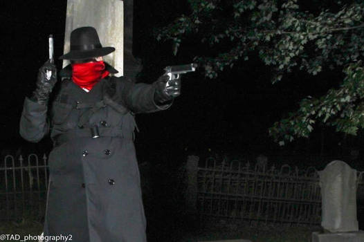 The Shadow.... In a Graveyard! by blitzdawgcosplay