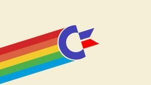 Commodore Logo Rainbow Poster