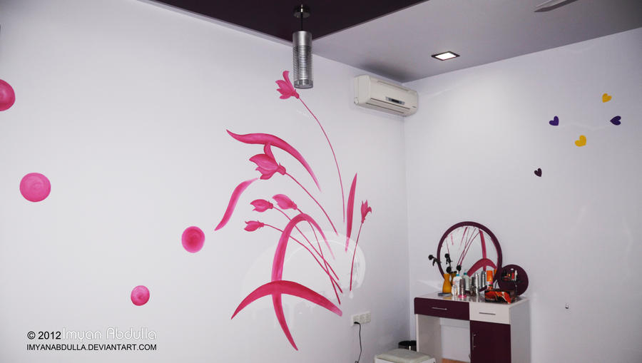 Floral Boutique Wall Painting By Imyanabdulla On Deviantart