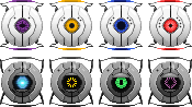 Portal Personality Cores Pixel by KT-245